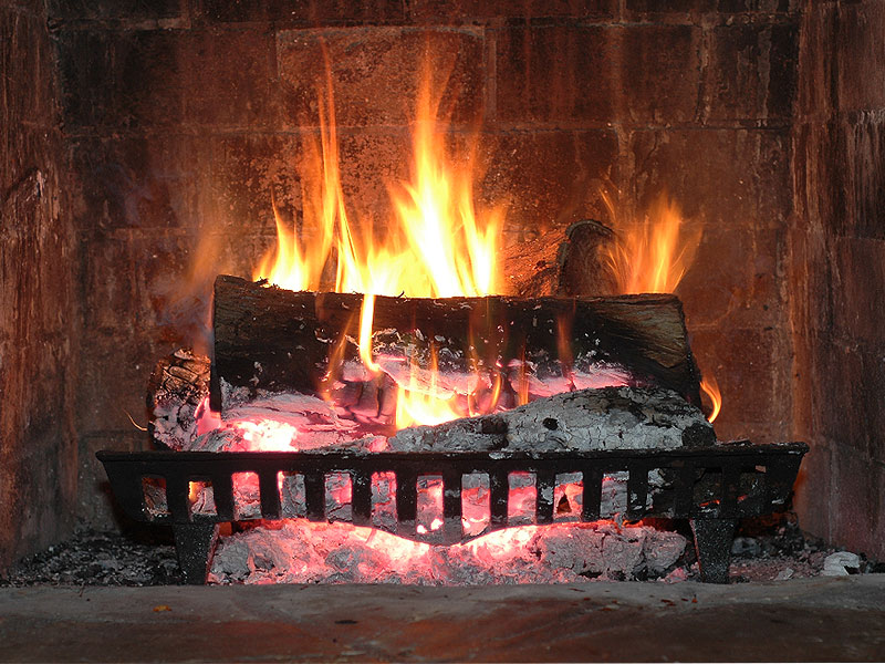 The grand plan for my burning love involved a fire at the parsonage in the fireplace.