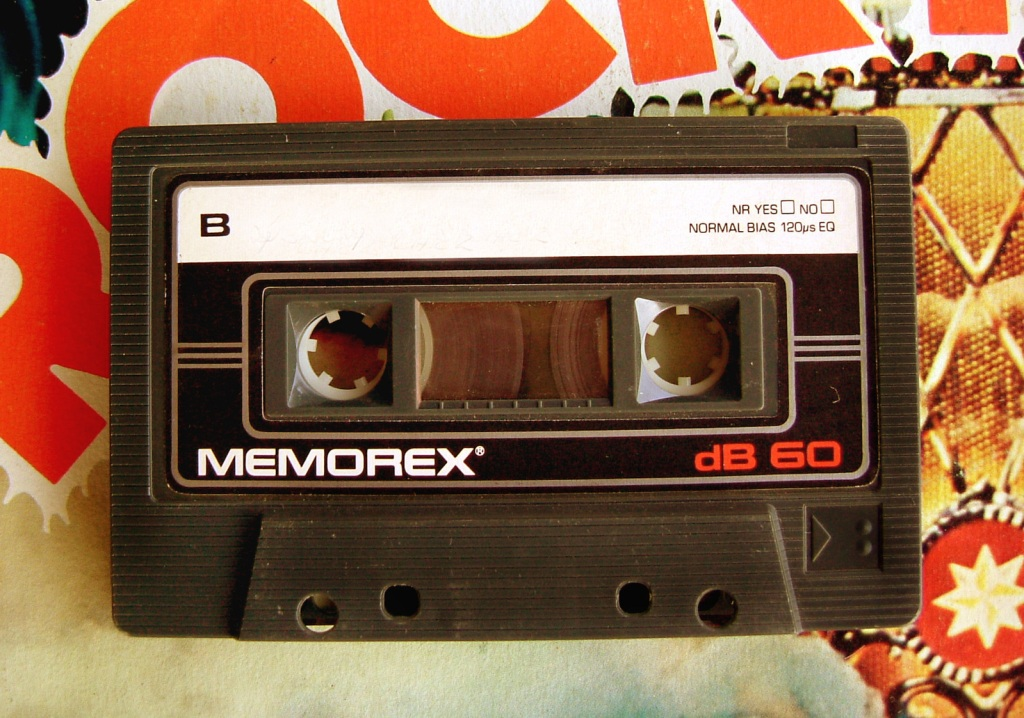 It was the time of cassette tape music.